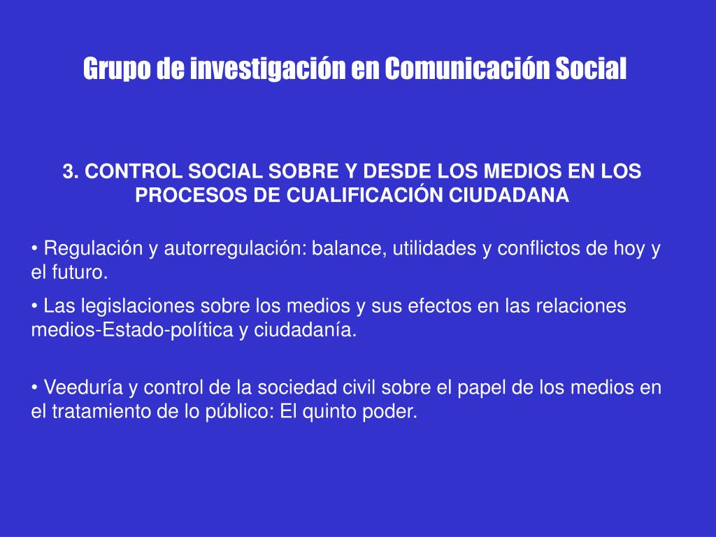 Grupo de investigación en Comunicación Social