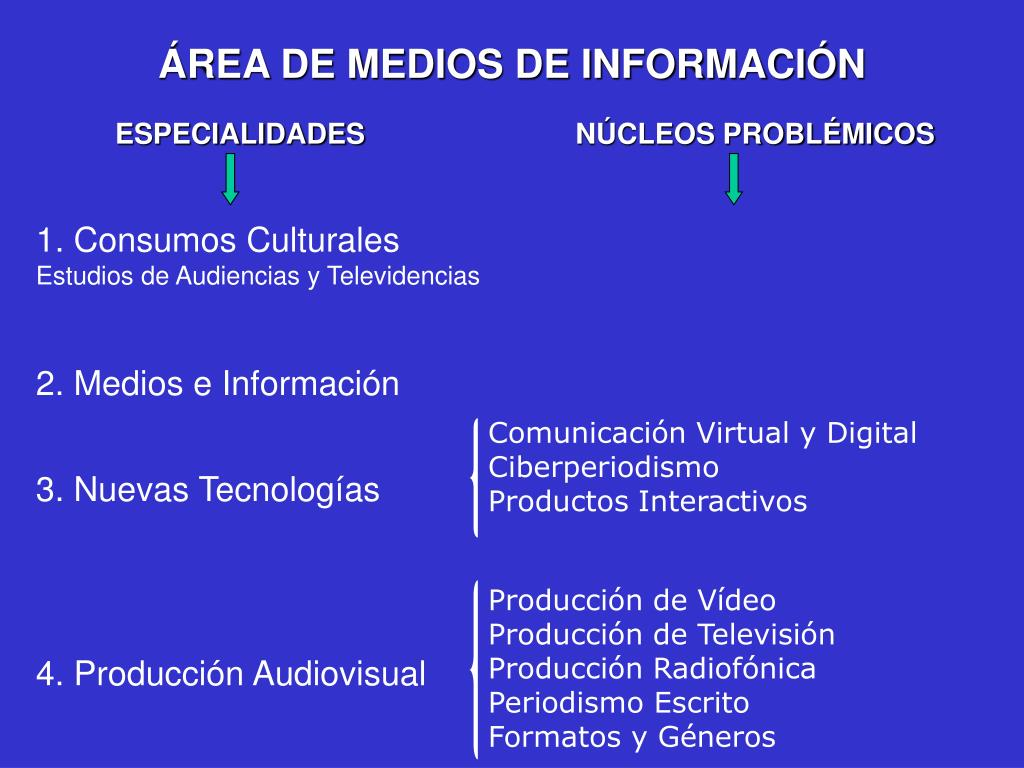 ÁREA DE MEDIOS DE INFORMACIÓN