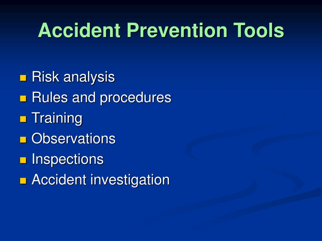 Accident Prevention Tools