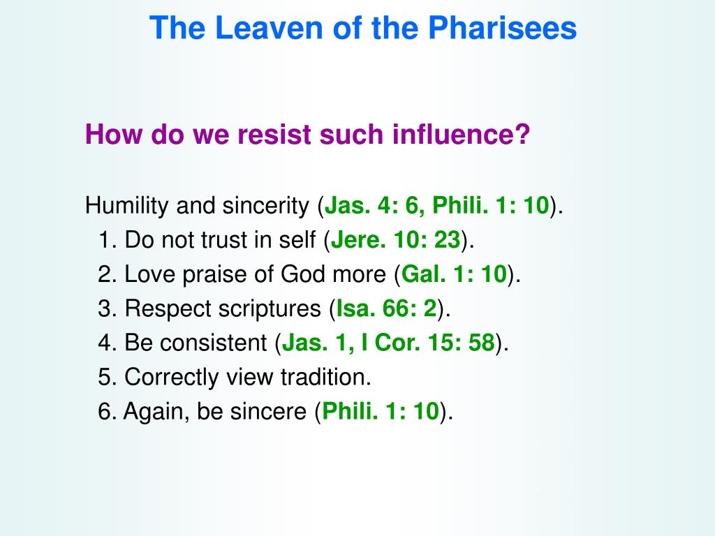 The Leaven of the Pharisees