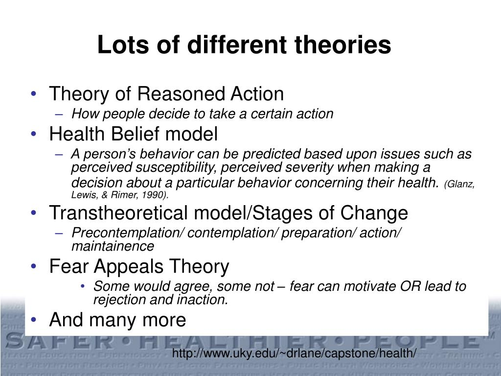 Lots of different theories