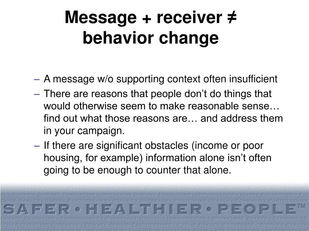 Message + receiver