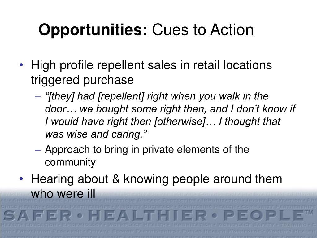 Opportunities: