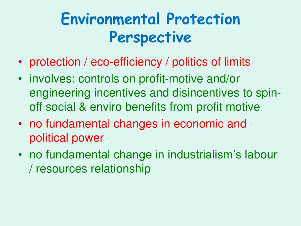 Environmental Protection Perspective