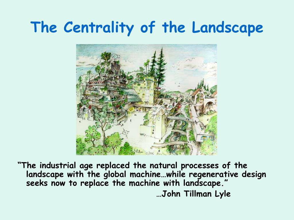 The Centrality of the Landscape