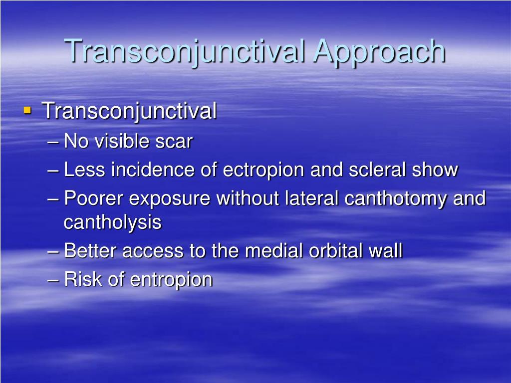 Transconjunctival Approach