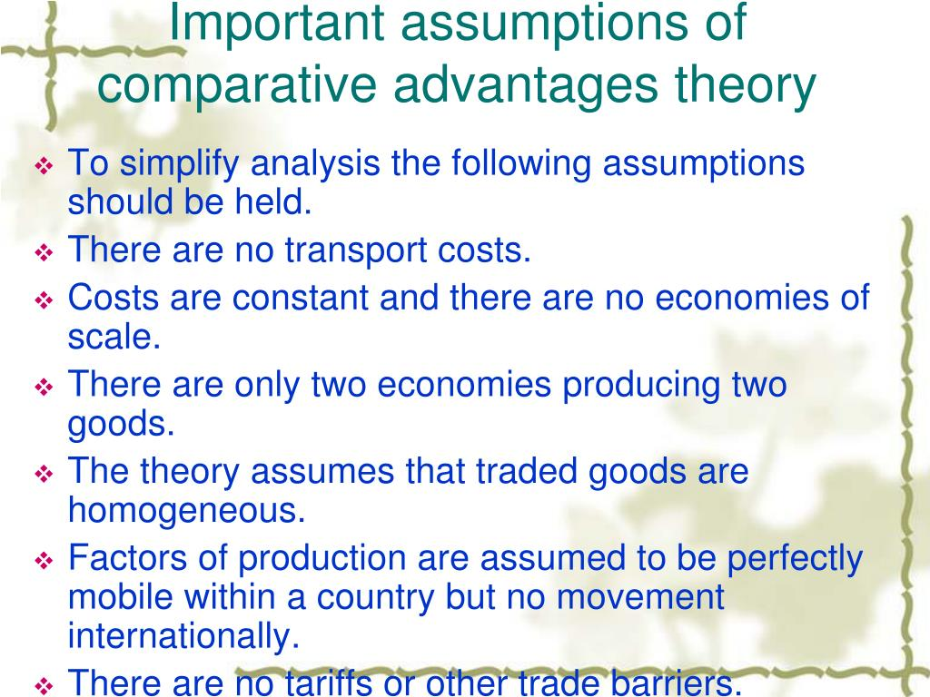 comparative advantage concept and benefits of 2018-6-4 comparative advantage suggests a division of labor even without the benefits of skill gains that may arise  a brief history of the concept of comparative advantage.