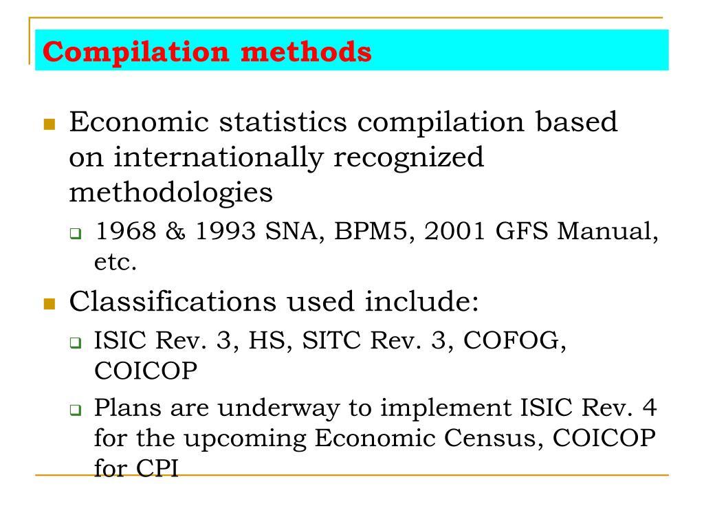 Compilation methods
