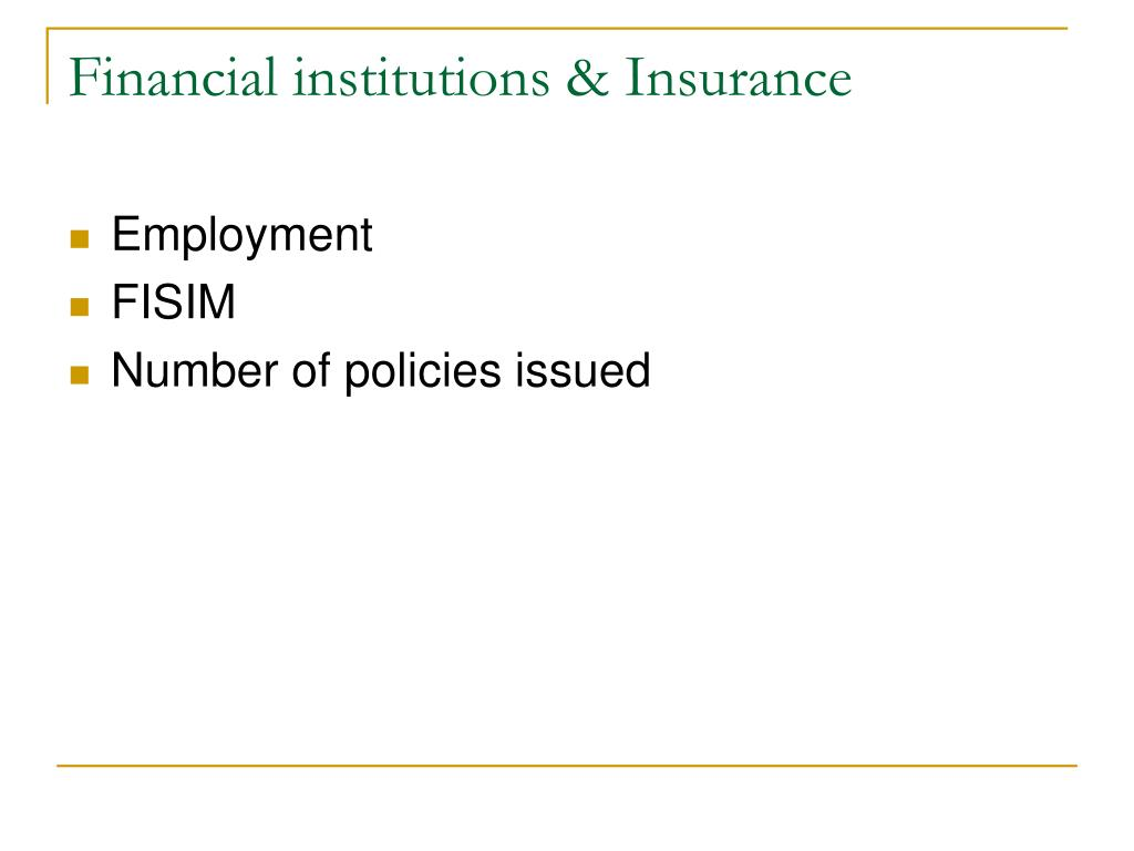 Financial institutions & Insurance