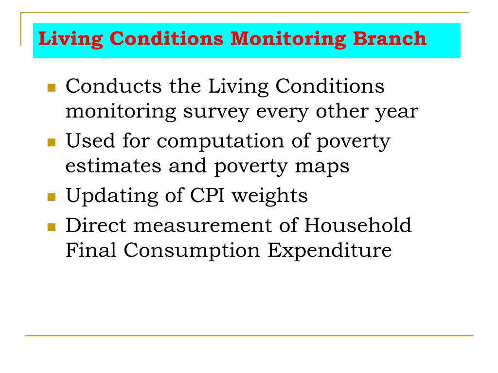 Living Conditions Monitoring Branch