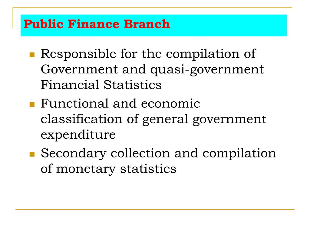 Public Finance Branch