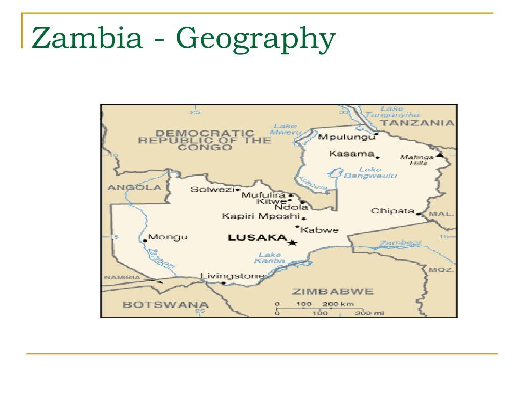 Zambia - Geography