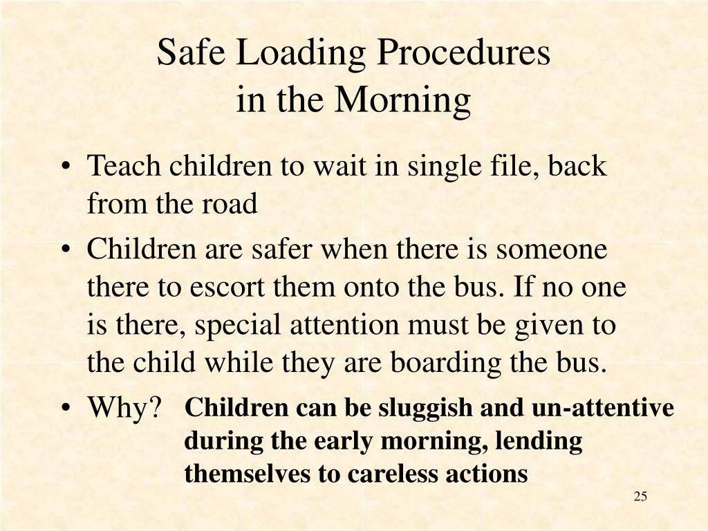 Safe Loading Procedures