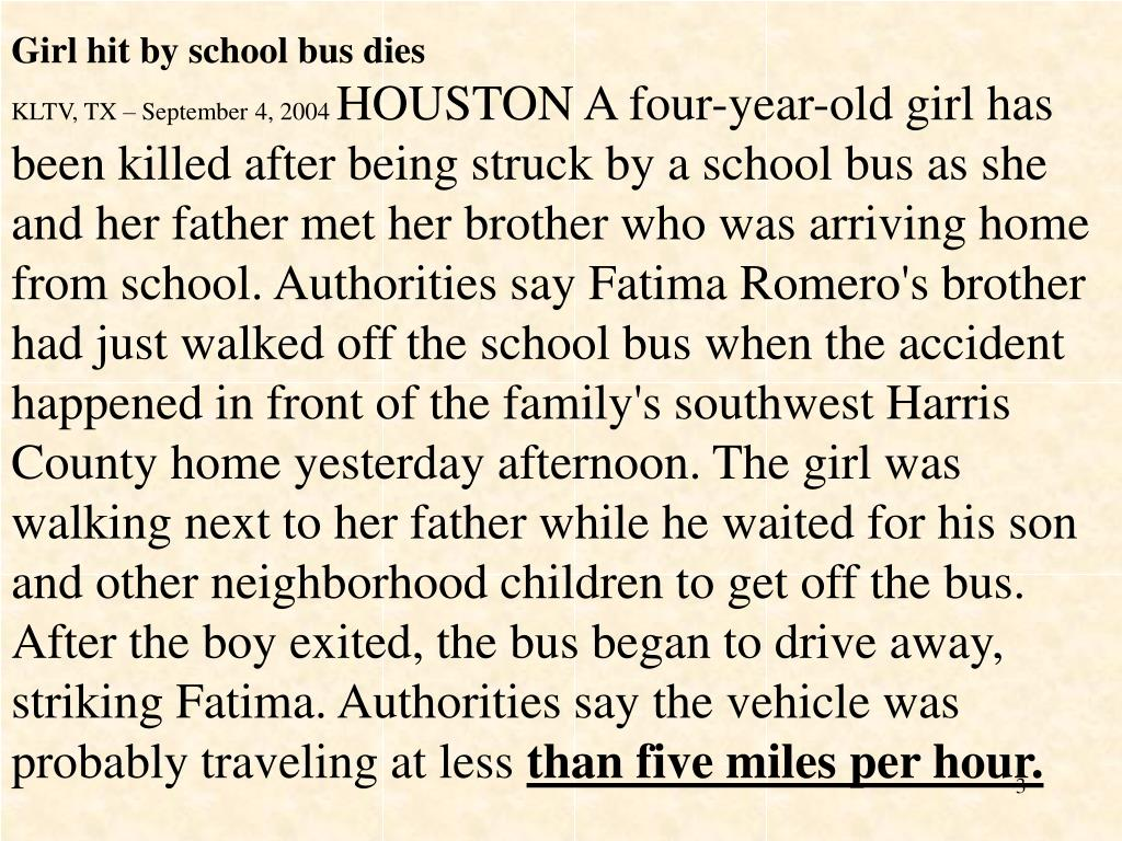 Girl hit by school bus dies