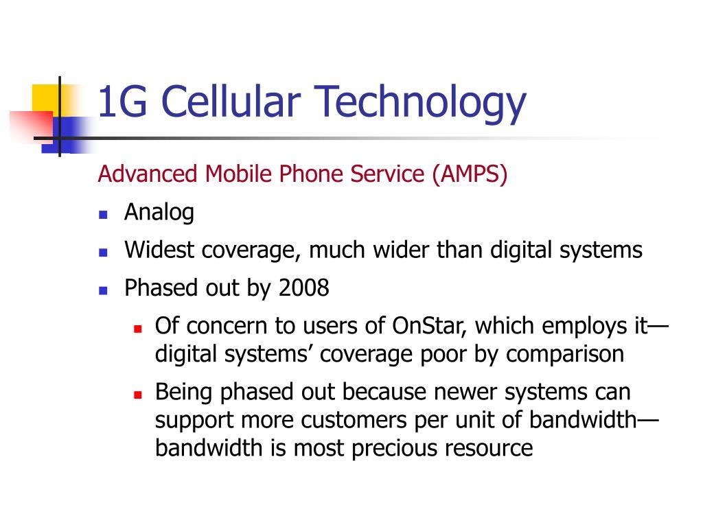 1G Cellular Technology
