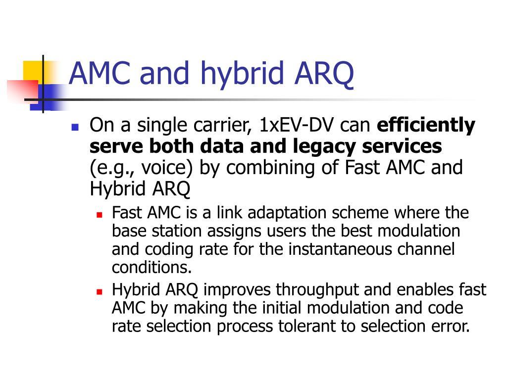 AMC and hybrid ARQ
