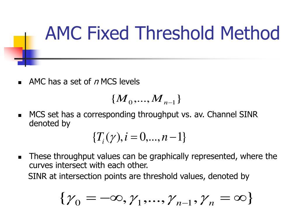 AMC Fixed Threshold Method