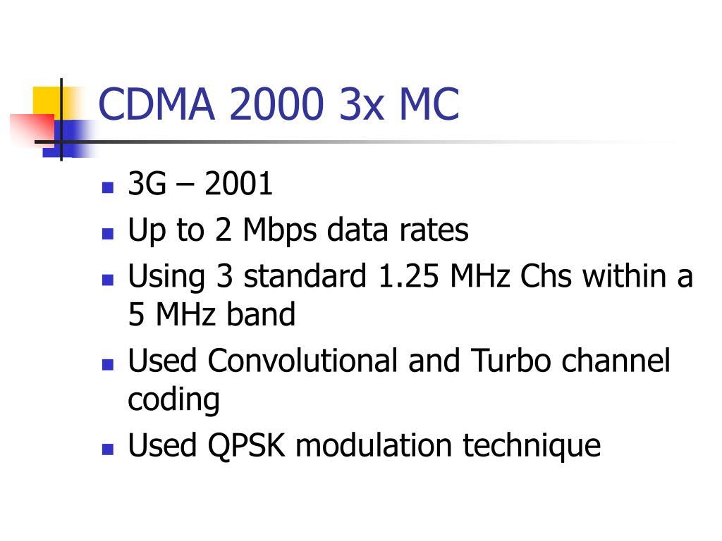 CDMA 2000 3x MC