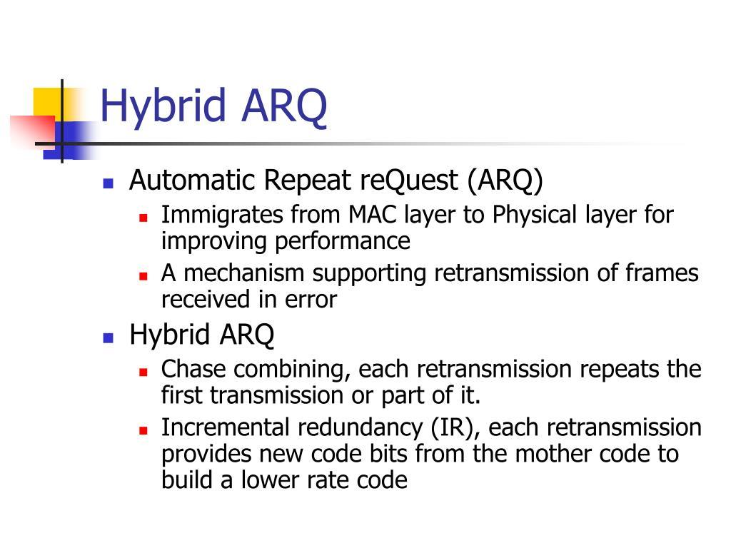 Hybrid ARQ