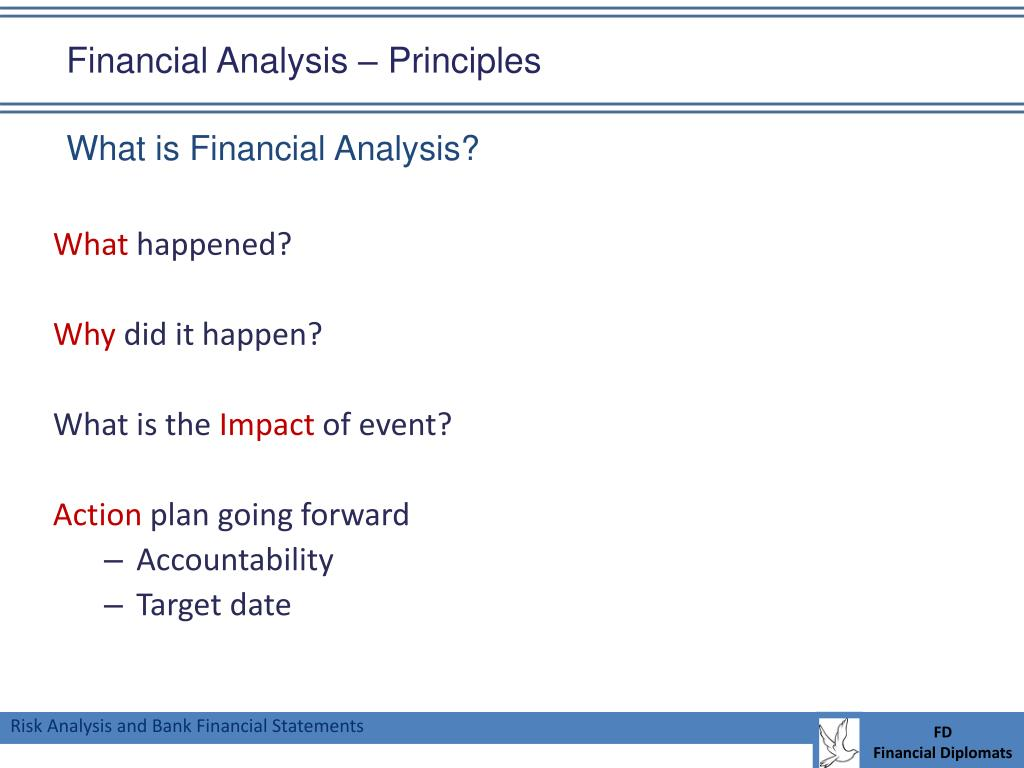 Financial Analysis – Principles
