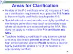 areas for clarification55