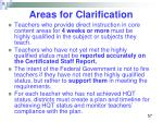 areas for clarification56