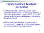 highly qualified teachers definitions27