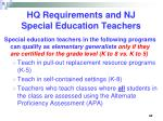 hq requirements and nj special education teachers44