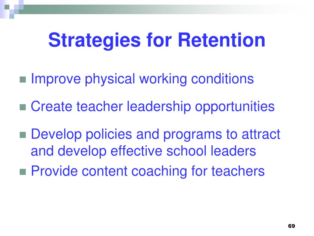 Strategies for Retention