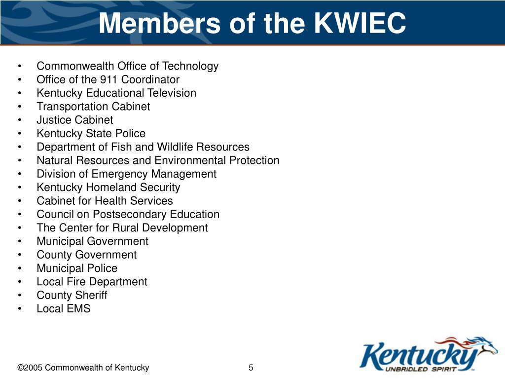 Members of the KWIEC