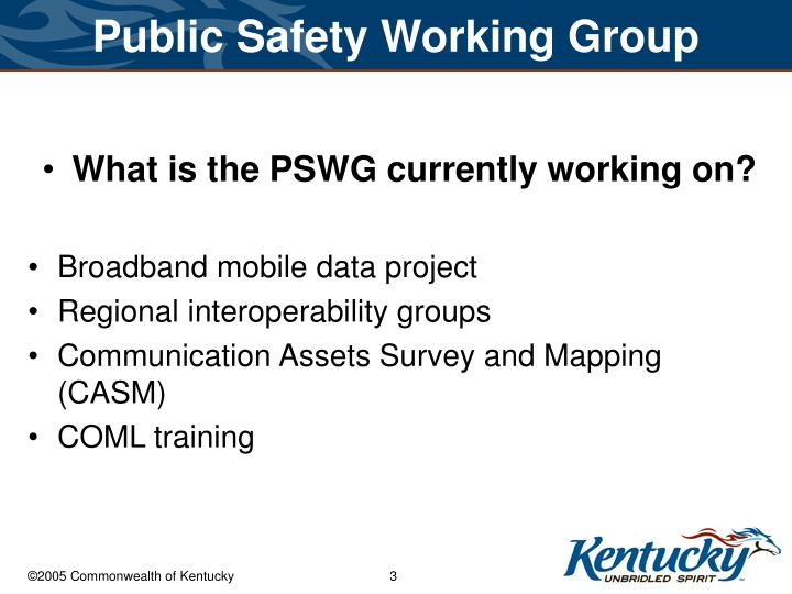 Public safety working group3