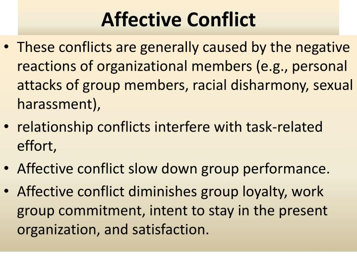 Affective conflict