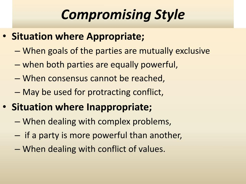 Compromising Style