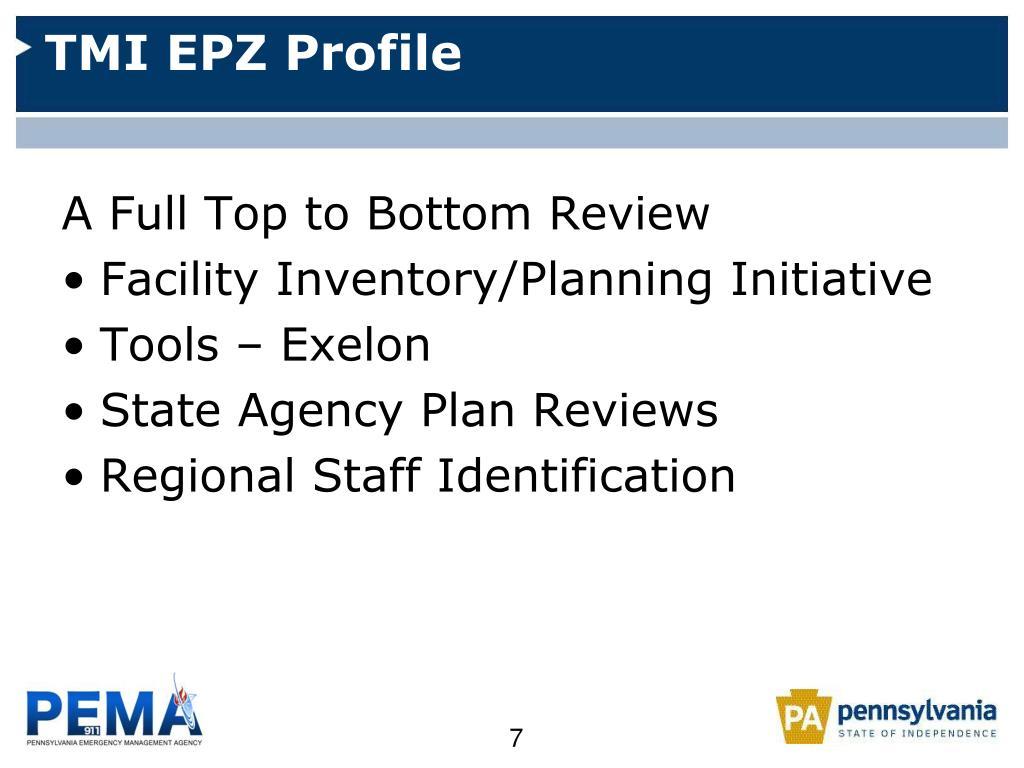 TMI EPZ Profile