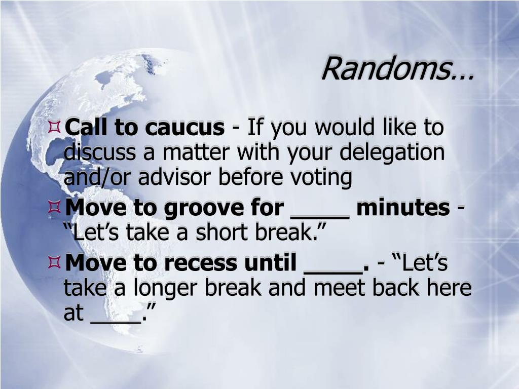 Randoms…