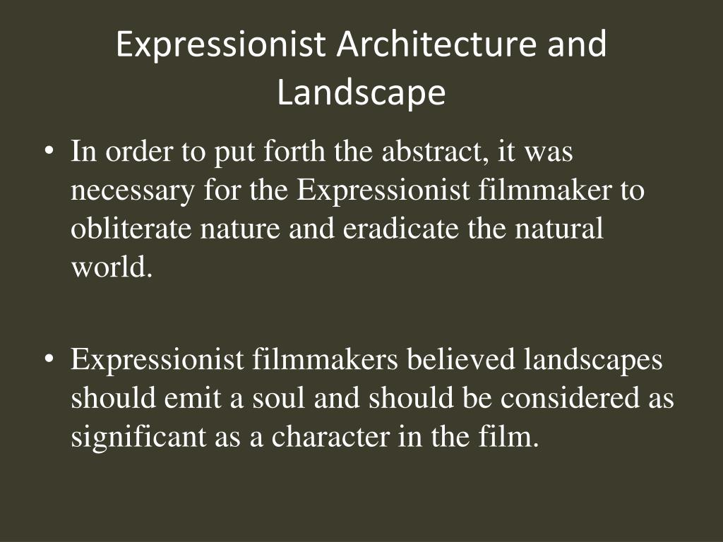 Expressionist Architecture and Landscape