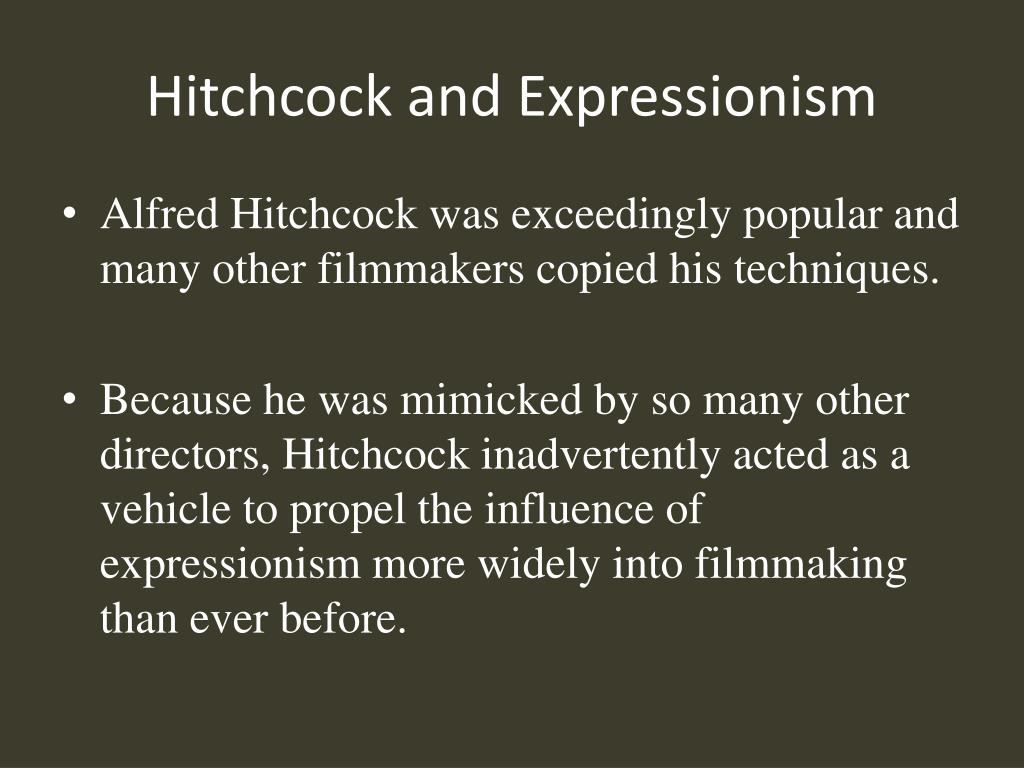 Hitchcock and Expressionism
