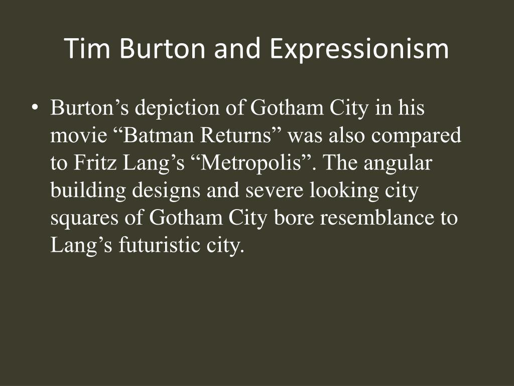 Tim Burton and Expressionism