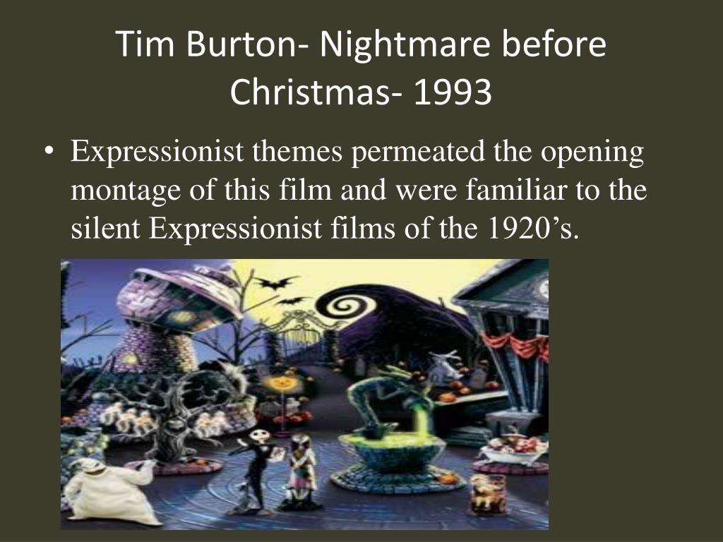 Tim Burton- Nightmare before Christmas- 1993