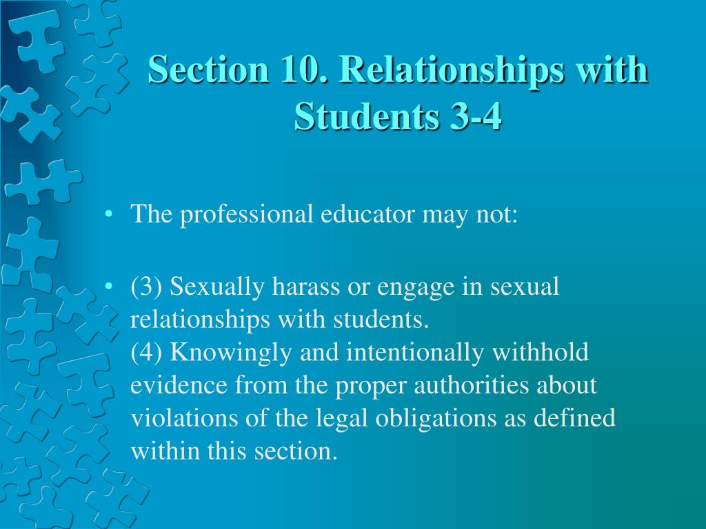 Section 10. Relationships with Students 3-4