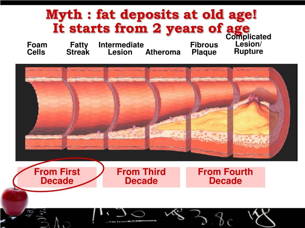 Myth : fat deposits at old age!