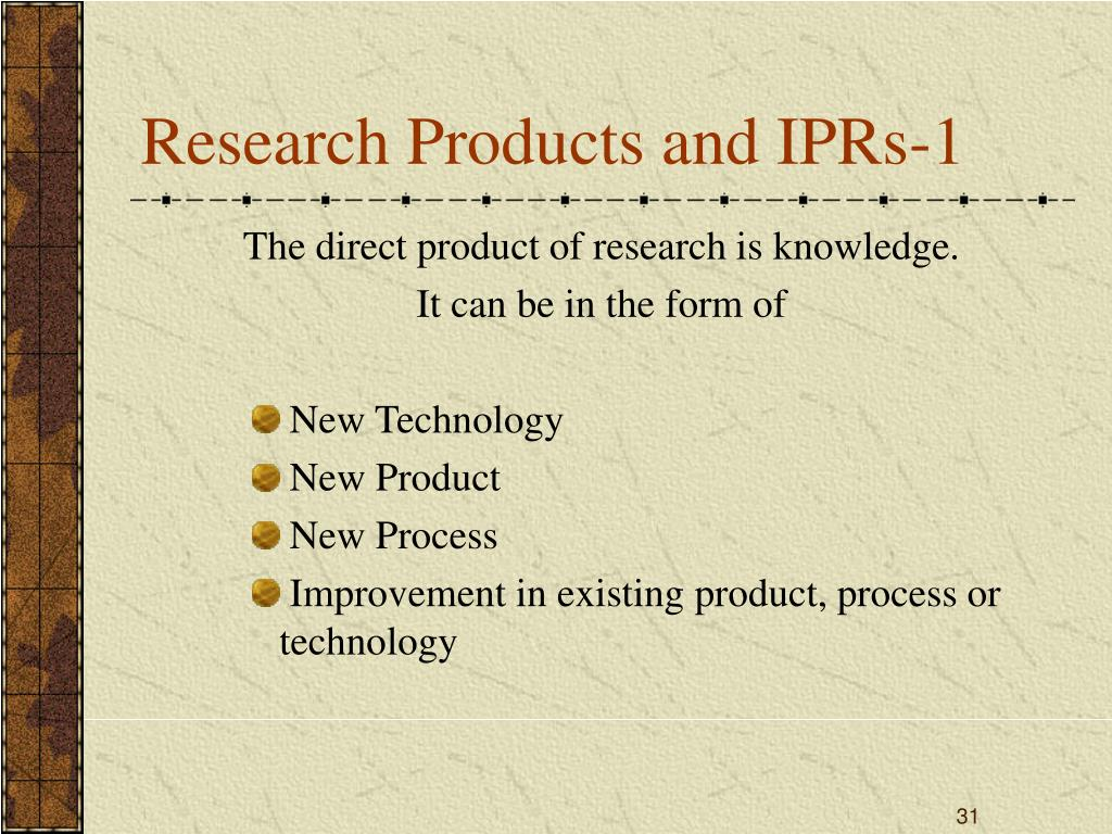 Research Products and IPRs-1