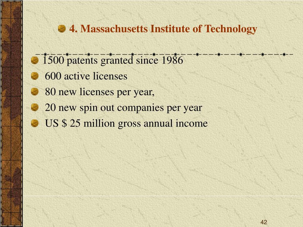 4. Massachusetts Institute of Technology