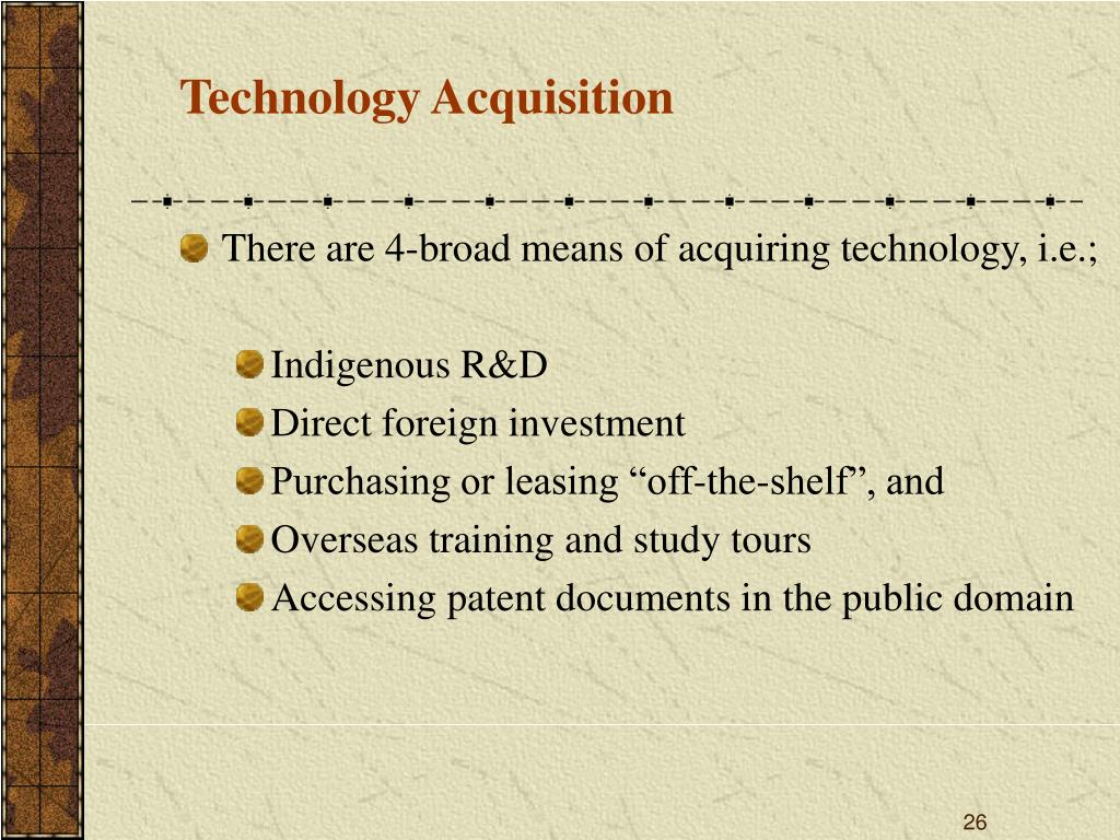 Technology Acquisition