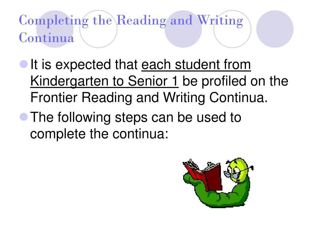 Completing the Reading and Writing Continua