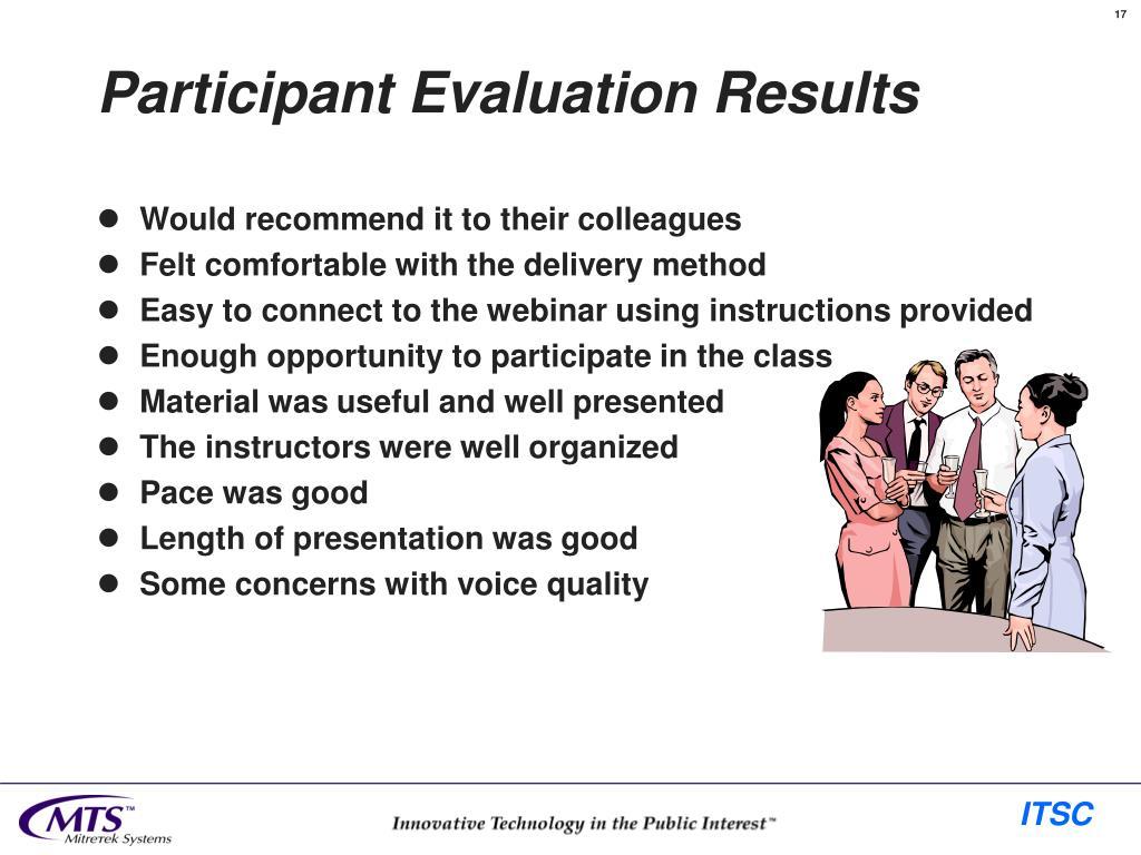 Participant Evaluation Results