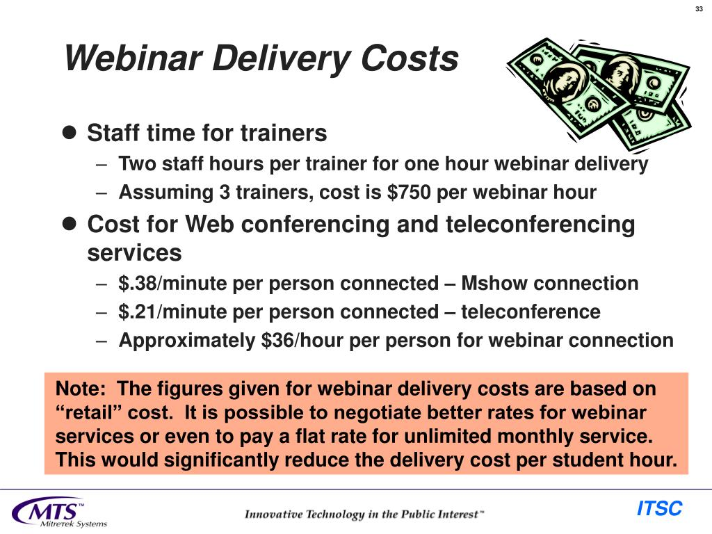 Webinar Delivery Costs