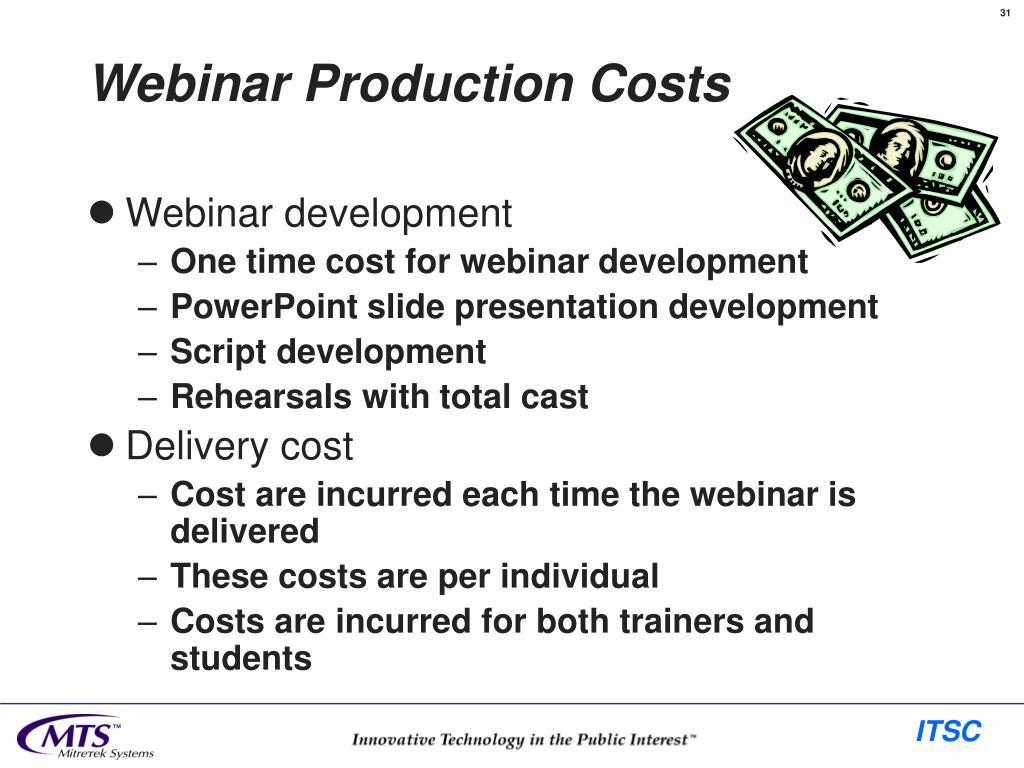 Webinar Production Costs