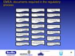 emea documents required in the regulatory process