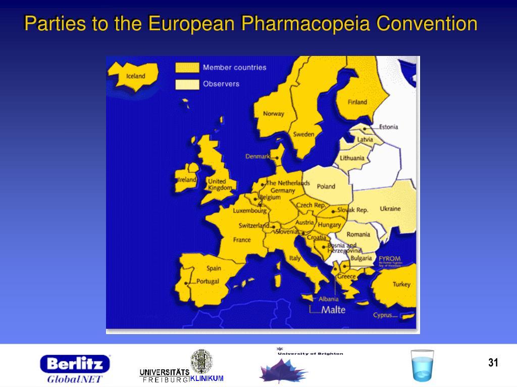 Parties to the European Pharmacopeia Convention